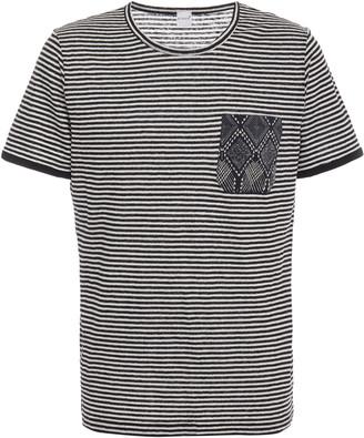 eidos Striped Cotton-Jersey Pocket T-Shirt