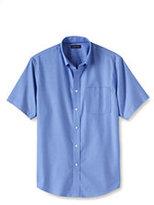 Classic Men's Short Sleeve Traditional Fit No Iron Sportshirt-Black