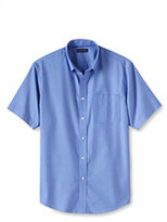 Classic Men's Short Sleeve Traditional Fit No Iron Sportshirt-Light Fern Polka Dot