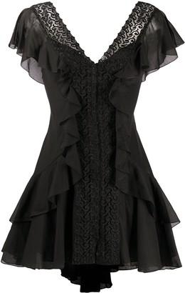 Charo Ruiz Ibiza Ruffle Mini Dress