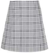 Wood Wood Stella check cotton miniskirt