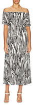 Tracy Reese Flared Flounced Printed Dress