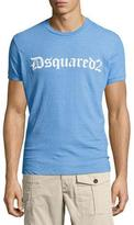 DSQUARED2 Gothic Logo-Print T-Shirt, Light Blue