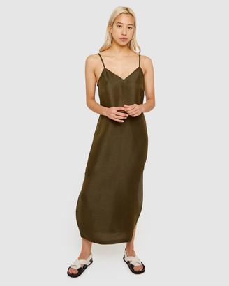 Jag Nat Linen Silk Slip Dress