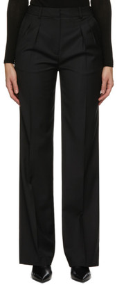 LOULOU STUDIO Black Pleated Trousers