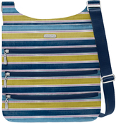 Baggallini Tropical Stripe Big Zipper Crossbody Bag
