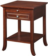 Convenience Concepts American Heritage Collection Logan End Table with Drawer and Slide