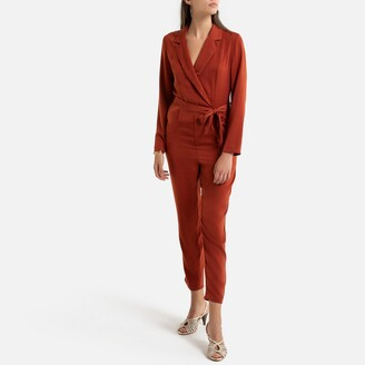 Only Jumpsuit with Tailored-Collar and Tie