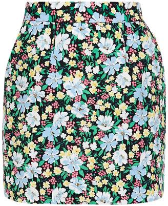 Maje Jikael Floral-print Crepe Mini Skirt