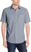 Arrow Men's Short Sleeve Solid Chambray Shirt