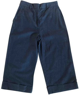 Margaret Howell Navy Cotton Trousers