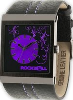 Rockwell Time Unisex MC121 Mercedes Black Leather and Purple Watch