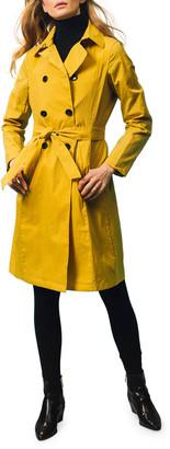 Jane Post Crinkle Trench Coat w/ Hood