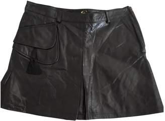 Just Cavalli Black Leather Skirt for Women