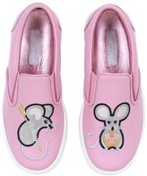 Dolce & Gabbana Mice Nappa Leather Slip-On Sneakers