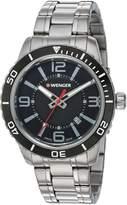 Wenger Men's 01.0851.118 Roadster Analog Display Swiss Quartz Silver Watch