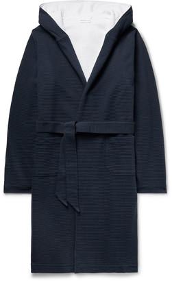 Hamilton and Hare - Waffle-Knit Cotton Hooded Robe - Men - Blue