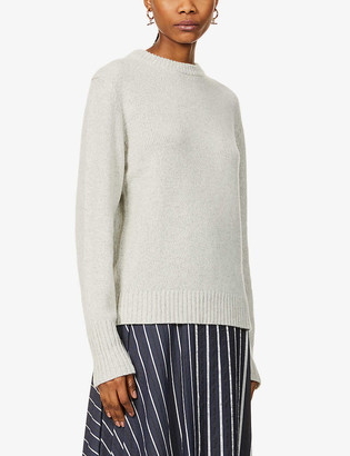 Riley Studio Scoop-neck recycled cashmere and wool-blend jumper