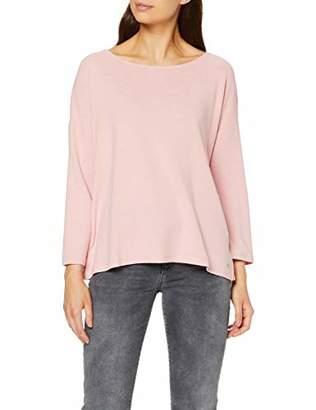 Tom Tailor Women's Schleifendetail Longsleeve T-Shirt, (Dusky Flower Pink 11056), M
