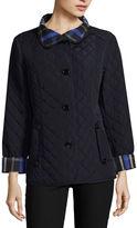 Liz Claiborne Belted Quilted Jacket