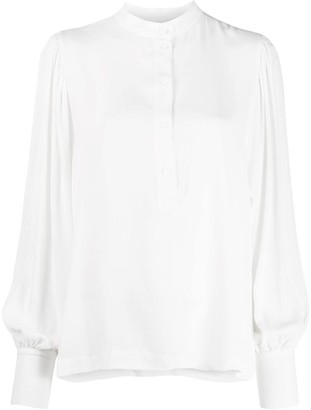8pm Loose-Fit Collarless Blouse