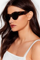 Nasty Gal Womens What's Your Torts Thick Cat-Eye Sunglasses - brown - One Size