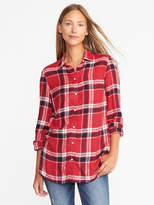 Old Navy Relaxed Plaid Shirt for Women