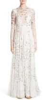 Valentino Women's Swallow Print Silk Gown