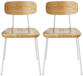 Habitat Hester Pair of Dining Chairs - White