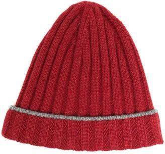 Brunello Cucinelli Rib Knit Beanie Hat