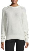 Joseph Cashmere Raglan Pullover Sweater, Ecru