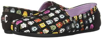 Skechers Bobs From BOBS from Bobs Plush - Wag Crew (Black) Women's Flat Shoes