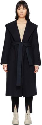 The Row Navy Riona Hooded Coat