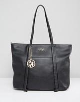 Armani Jeans Tote Bag in Black Metallic