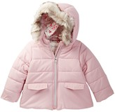 Jessica Simpson Quilted Faux Fur Trimmed Jacket (Baby Girls)