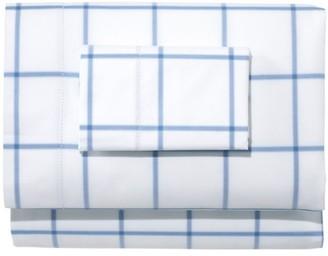 L.L. Bean 280-Thread-Count Pima Cotton Percale Sheet Set, Windowpane