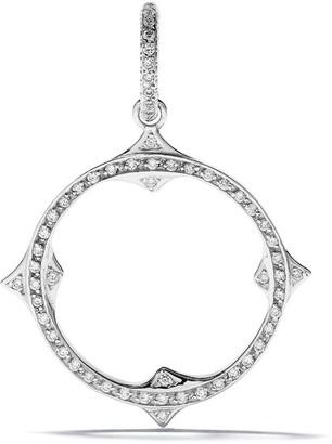 Loree Rodkin 14kt Gold Diamond Open Gothic Point Circle Pendant
