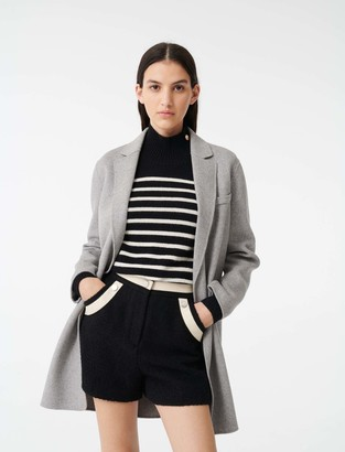 Maje Double face cropped coat