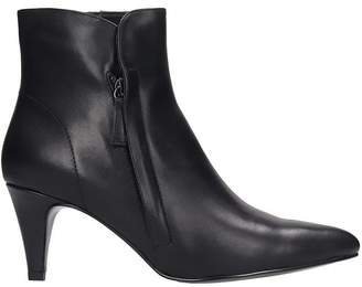 Bibi Lou High Heels Ankle Boots In Black Leather