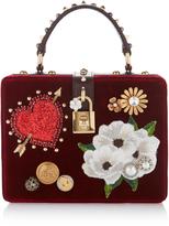 Dolce & Gabbana Embellished Velvet Top Handle Bag