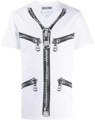 Moschino zip print short-sleeved T-shirt