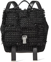 Proenza Schouler fringe-trimmed tweed and leather backpack