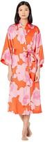 Natori N By N by Peony Sunset Robe (Orange Coral/Pink) Women's Pajama