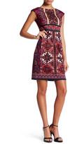 London Times Heraldic Scroll Sheath Dress (Petite)