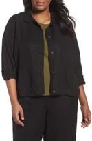 Eileen Fisher Plus Size Women's Classic Collar Jacket