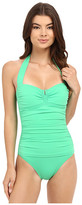 Tommy Bahama Pearl V-Front Halter Cup One-Piece