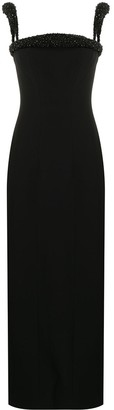 Versace Bead-Trim Column Dress