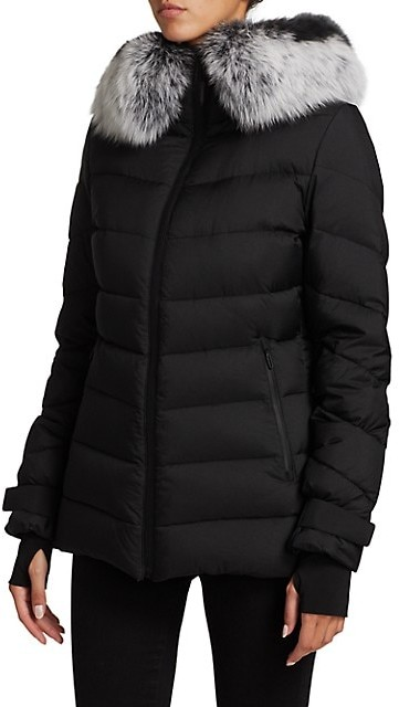 Thumbnail for your product : The Fur Salon Removable Fox Fur-Trim Hooded Down Jacket
