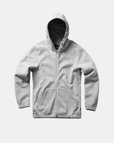 Reigning Champ Full Zip Hoodie (Heather Grey | Bonded Terry)