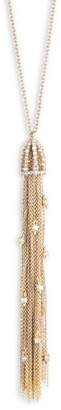 Alexis Bittar 10K Yellow Goldplated Cascading Crystal Tassel Pendant Necklace